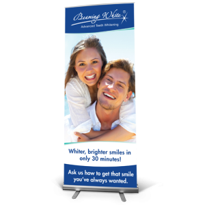 beaming white standard banner english