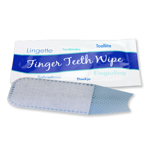 finger wipe for cleaning teeth