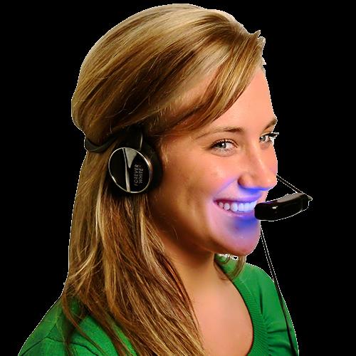eternal white headset light and headphones