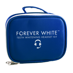 forever white teeth whitening headset travel case