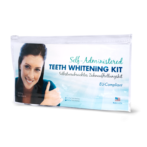 self administered teeth whitening kit package