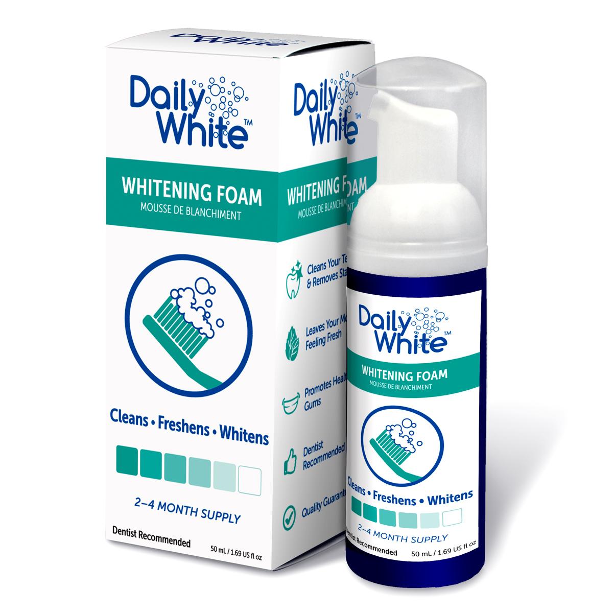Daily White Fluoride Free Teeth Whitening Dental Foam