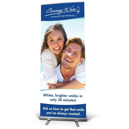 Beaming White Banners - Mockup English