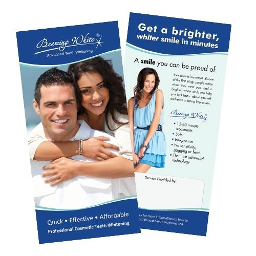 Mobile Teeth Whitening Packages - Consumer Flyer