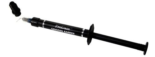 ProDam Gingival Barrier Gum Protection - Black Syringe with Metal Tip Application