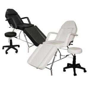 Professional Facial Bed - Black or White with Stool
