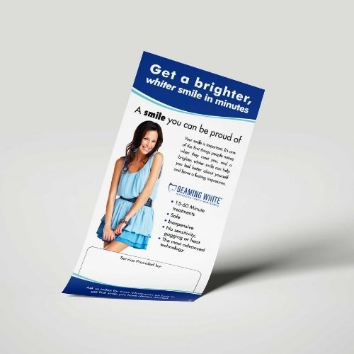Teeth Whitening Beaming Brochures and Flyers - 2nd Mockup Consumer Flyer