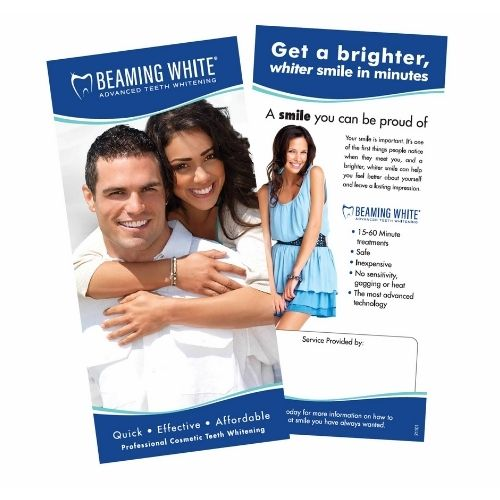 Teeth Whitening Beaming Brochures and Flyers - Professionally Designed Teeth Whitening Brochures
