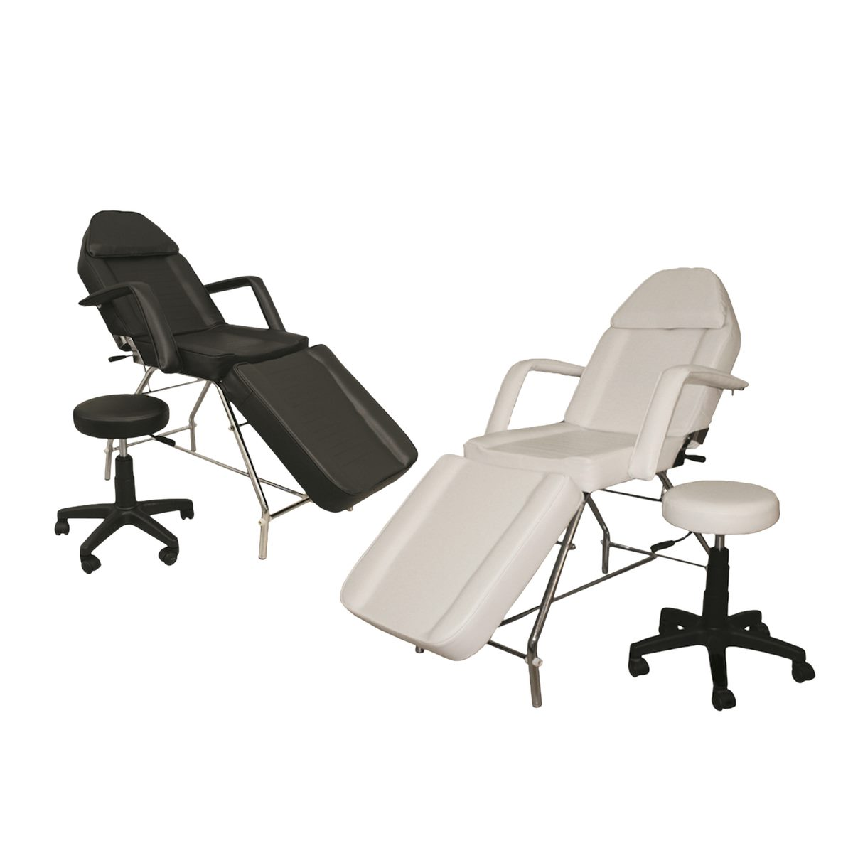 adjustable teeth whitening chair with stool black or white