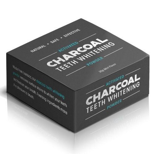 Charcoal Teeth Whitening Powder - Charcoal Box Angle