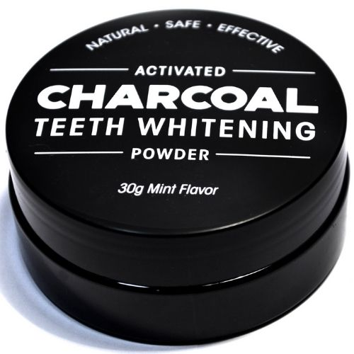 Charcoal Teeth Whitening Powder - Charcoal Container Closed