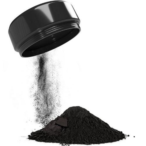 Charcoal Teeth Whitening Powder - Charcoal Container Pouring