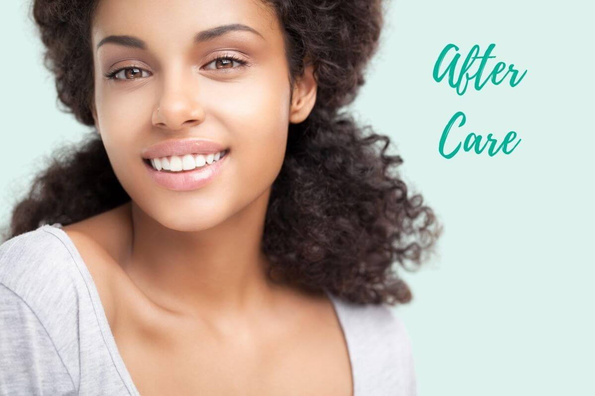 teeth whitening after care